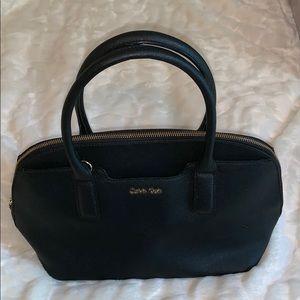 Make offer!  Calvin Klein Lg black gold satchel